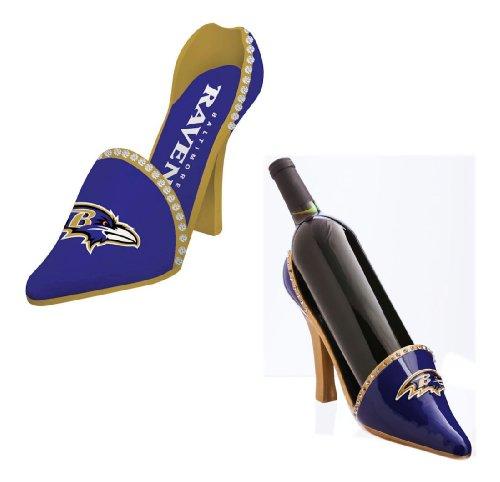 Decorative Team Shoe Wine Bottle Holder Team: Baltimore Ravens front-990524