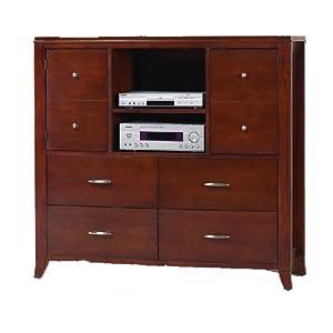 Modus Furniture Brighton Media Chest, Cinnamon