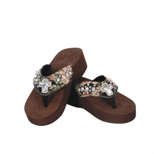 Womens Camo Flip Flops