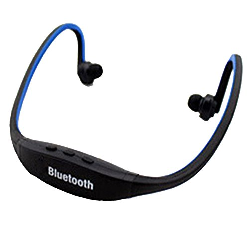 Best Back-Hang Stereo Sound Wireless Sports Bluetooth Headphones Blue
