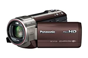 Panasonic HC-V720EF-T Caméscope numérique Port SD/SDHC 17,52 Mpix Zoom Optique 21 x Wifi Marron