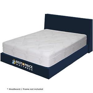 Best Price Mattress 12-Inch Memory Foam Mattress with 3-Inch Memory Foam and 3-Inch Pressure Relief System, Queen