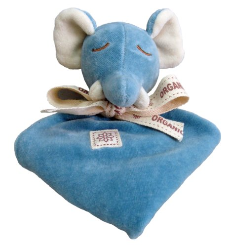 Miyim Simply Organic Lovie Blankie, Elephant, 0-3 Months front-143359