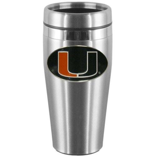 NCAA Miami Hurricanes Steel Travel Mug (Miami Hurricanes Slides compare prices)