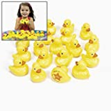 20 Yellow Plastic Weighted Carnival Ducks Matching Game (pool not included)