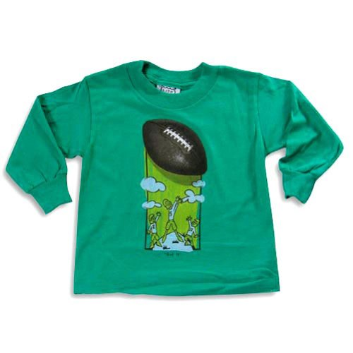 Mis Tee V-Us - Little Boys Long Sleeve Football Shirt, Green 20520-2T front-532104