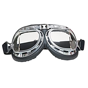 Mad-Max Nux Goggles Vintage Anti-dust Motorcycle Glasses Adjustable Strap