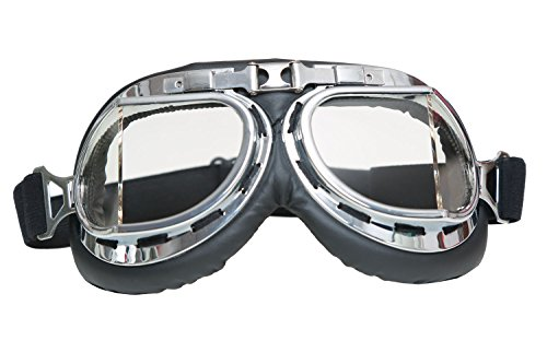 Mad-Max Nux Goggles Vintage Anti-dust Motorcycle Glasses Adjustable Strap 1
