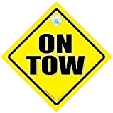 On Tow, On Tow Sign, On Tow Car Sign, Towing Sign, On Tow Sign, Car Safety Sign, Warning Sign, Caravan, Towing, Breakdown Sign, Decal, Bumper Sticker, Caravan Sign, Bumper Sticker Sign Style