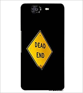 PrintDhaba Dead End Sign Board D-2247 Back Case Cover for MICROMAX A350 CANVAS KNIGHT (Multi-Coloured)