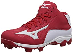 Mizuno 9 Spike ADV YTH FRHSE8 MD RD-WH Youth Molded Cleat (Little Kid/Big Kid), Red/White, 1.5 M US Little Kid