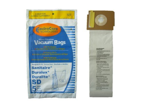 10 Sanitaire Sd Micro with Closure Vacuum Bags, Electrolux, Eureka, Duralux Vacuum Cleaners, 63262, SD - 63262, Commercial SC9180, SC-9180, SC9100, C4900, S9120, SC9150 (Vacuum Bag Sanitaire compare prices)
