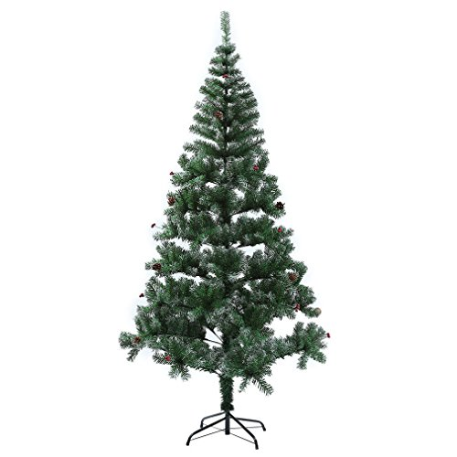 [4 Feet ++ ++ Artificial Pine Needles, pine cone, berry Christmas Tree & Stand 130Tips] (Simple Cheer Dance Costumes)