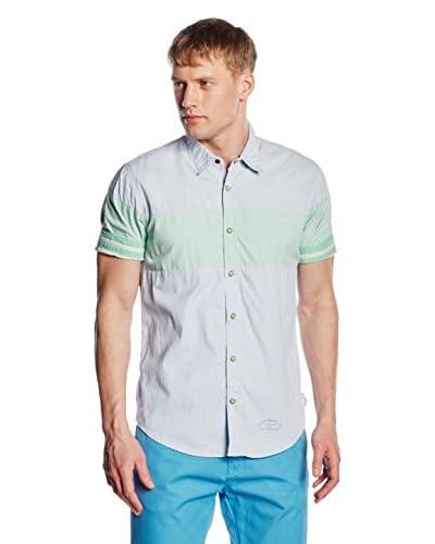 Scotch & Soda Camisa Hombre Azul Claro / Verde