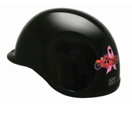 HCI Women's Polo DOT Pink Half Motorcycle Helmet. 105-220
