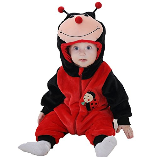 MICHLEY bambino incappucciato infantile animale Stile tuta del bambino costume del pagliaccetto