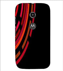 Printdhaba Pattern D-2019 Back Case Cover For Motorola Moto E2