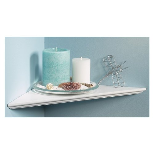 "Knape & Vogt EZ12/1WH 12"" White Instant Corner Shelves Single Pack"
