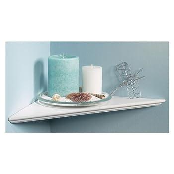 """Knape & Vogt EZ12/1WH 12"""" White Instant Corner Shelves Single Pack"""