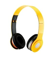 buy Soundstrike 3.5Mm Foldable Headphone Headset For Dj Headphone Mp3 Mp4 Pc Tablet Sandisc Music Video And All Other Music Players (Yellow)