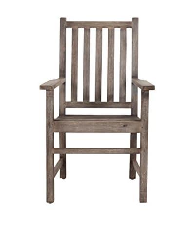 Jeffan Georgina Vintage-Inspired Arm Chair, Grey