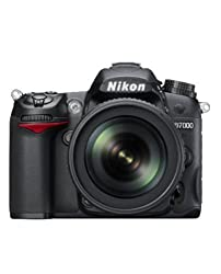 Nikon D7000 16.2MP Digital SLR Camera (Black) with AF-S 18-105mm VR II Kit Lens and 8GB Card, Camera Bag