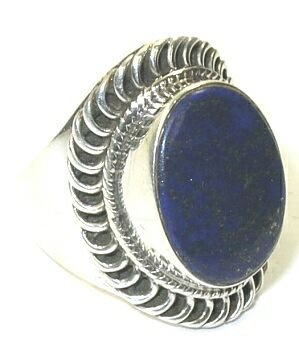 Size 6 Lapis & Sterling Silver Ring