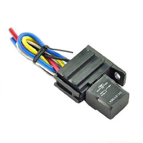 2Pack Car 30A 12V Spdt Relay Kit For Electric Fan Fuel Pump Light Horn 5Pin Wire
