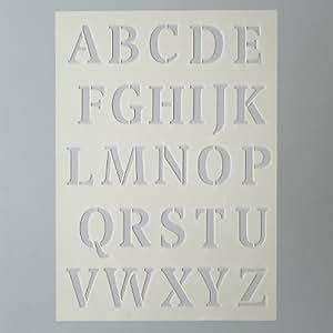 Stencil/Schablone Buchstaben Groß DINA A5