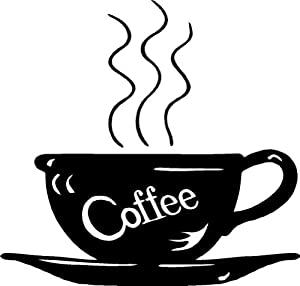 Design with Vinyl Design 267 Coffee Decal For That KitchenSize: 8-Inch By 8-Inch, Black from Design with Vinyl