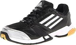 adidas Womens Volley Team W Black/White/Metallic Silver/Gum 8.5 B - Medium