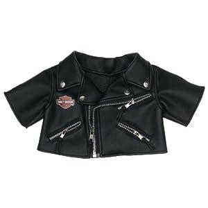 Build a Bear Workshop, Harley-Davidson Motorcycles® Black Jacket Teddy Bear Clothing
