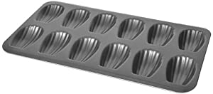 Chloe's Kitchen 203-167 Madeleine Pan, 12-Cavity