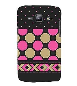 Girly Dotted Checks Pattern 3D Hard Polycarbonate Designer Back Case Cover for Samsung Galaxy J1 :: Samsung Galaxy J1 J100F (2015)