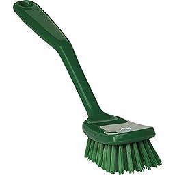 Vikan 30892 Hand-Held Dish Brush, Polypropylene/Polyester Bristle, 10-1/2\