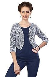 Romano Women's Fashion T-Shirt & Shrug Combo Set