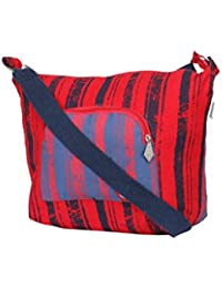 Pick Pocket Red And Blue Sling Bag