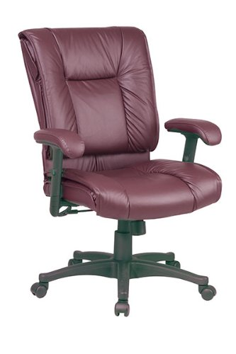 Office Star Products Ex93814 Executive Mid-back Chair, 28 In.x28-3/4 In.x42-1/4 In., Burgundy