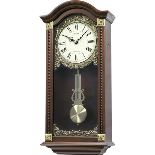 Large Deluxe Wooden Pendulum Wall Clock - Westminster Chime
