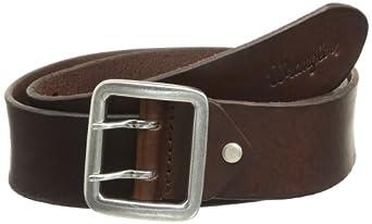 Wrangler Double Pin - Ceinture - Uni - Homme - Marron (Brown) - FR: 105 cm (Taille fabricant: 105)
