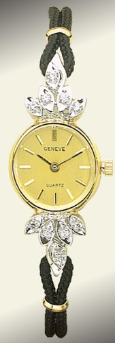 Geneve 14K Gold Diamond Womens Watch - OW248