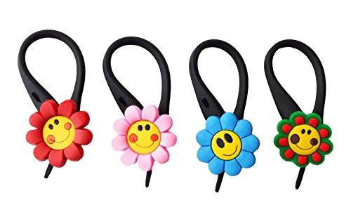 AVIRGO 4 pcs Soft Zipper Pull Charms for Backpack Bag Pendant Jacket Set # 51-3