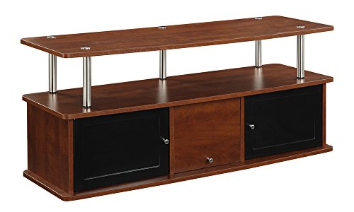 Convenience Concepts Designs2Go TV Stand with 3 Cabinets, Cherry