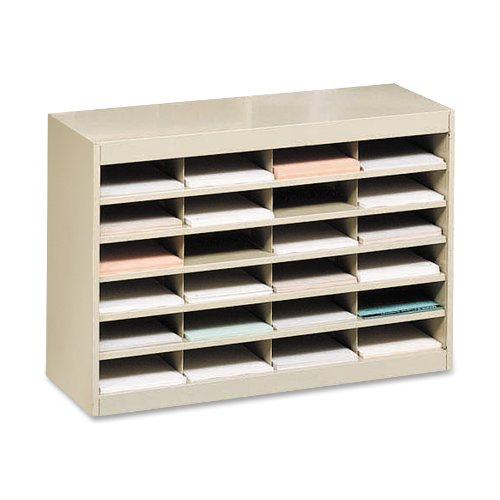 "Literature Organizer, 24 Cmprtmnt,37-1/2""x12-3/4""x25-3/4"",SD, Sold as 1 Each"