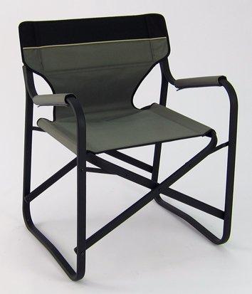 Designer's Aluminum Folding Deck Chair (Grey)