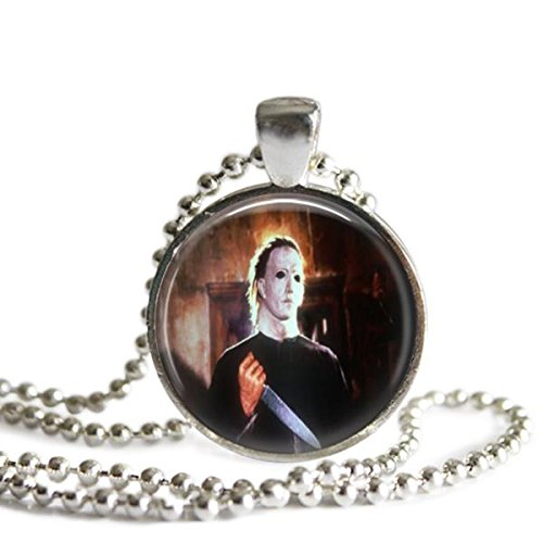 halloween-necklace-mike-myers-25-mm-silver-plated-picture-pendant