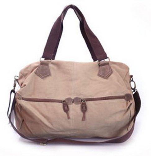 Bb.12 Brown Shoulder Messenger Bag Retro Fashion Unisex Handbag (Yellow)