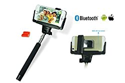 Hapurs Bluetooth Selfie Stick with Remote Button Shutter and Plastic Rearview Mirror Extendable Self Portraits Pole Handheld Monopod for iPhone 6 Plus,iPhone 6 ,iPhone 5s 5c 5 4s, Samsung Galaxy Alpha S5 S4, Samsung Galaxy No