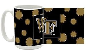 Buy NCAA Wake Forest Demon Deacons 15-Ounce Polka Dots in Colors Ceramic Mug by Mug World