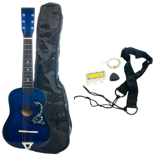 Kid's Acoustic Toy Guitar with Carrying Bag and Accessories - Blue